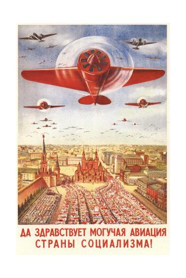 Long Live to the Strong Aviation of the Socialism Country!, 1939-Viktor Nikolaevich Dobrovolsky-Giclee Print