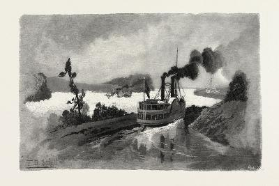 Long Sault Rapids, from the Canal, Eastern Ontario, Canada, Nineteenth Century--Giclee Print