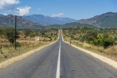 Long Straight Road in Central Malawi, Africa-Michael Runkel-Photographic Print