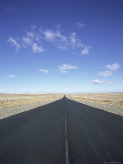 Long Straight Road in Patagonia, Patagonia, Argentina, South America-Gavin Hellier-Photographic Print
