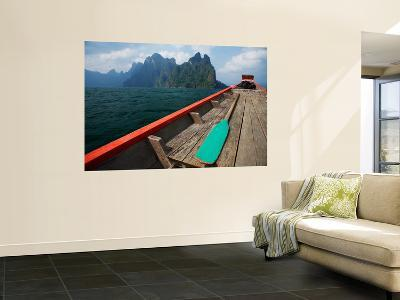 Long-Tail Boat on Cheow Lan Lake-Andrew Bain-Wall Mural