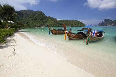 Long-Tail Boats and Beach of Ao Dalam Bay-Stuart Black-Photographic Print