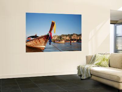 Long-Tail Boats at Railay West-Andrew Bain-Wall Mural
