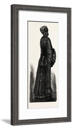 Long Winter Mantle, Fashion, 1882--Framed Giclee Print