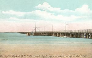 Longest Wooden Bridge, Hampton Beach, New Hampshire