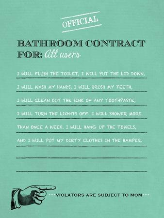 Bathroom Contract