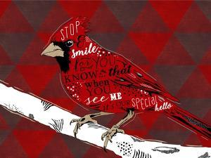Cardinal Hello Red by Longfellow Designs
