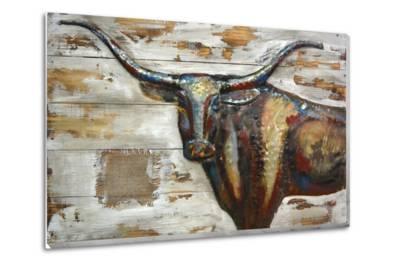Longhorn II - Wood & Metal Wall Art--Metal Wall Art