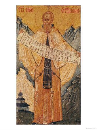 Icon of St. Sabas of Jerusalem, 1572