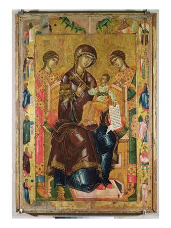Icon of the Virgin and Child with Archangels and Prophets, 1578 (Tempera on Panel)