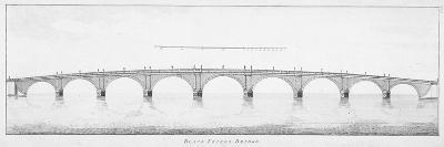Longitudinal Section of Blackfriars Bridge, London, 1766--Giclee Print