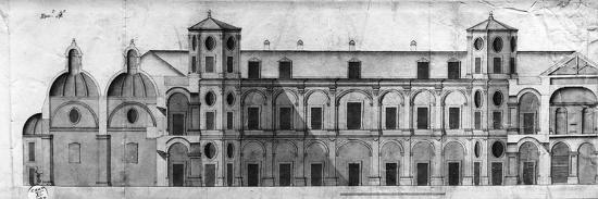 Longitudinal Section of Royal Casino of Persano--Giclee Print