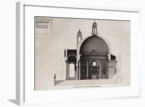 Longitudinal Section of Temple of Villa Barbaro in Maser--Framed Giclee Print
