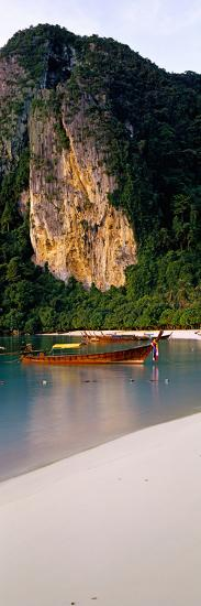 Longtail Boat in Ton Sai Bay, Phi Phi Don, Thailand--Photographic Print