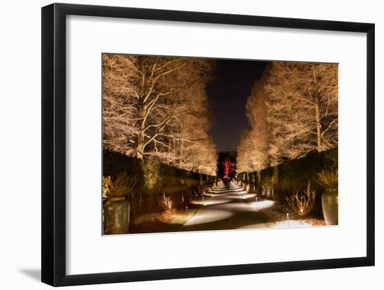 Longwood Gardens, in Pennsylvania, Showcases its Annual Holiday Lights and Decorations-Eric Kruszewski-Framed Photographic Print