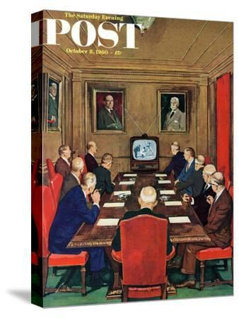 """""""Baseball in the Boardroom,"""" Saturday Evening Post Cover, October 8, 1960"""