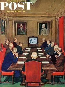 """""""Baseball in the Boardroom,"""" Saturday Evening Post Cover, October 8, 1960 by Lonie Bee"""