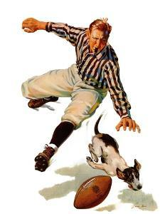"""""""Dog on the Field,"""" October 18, 1941 by Lonie Bee"""