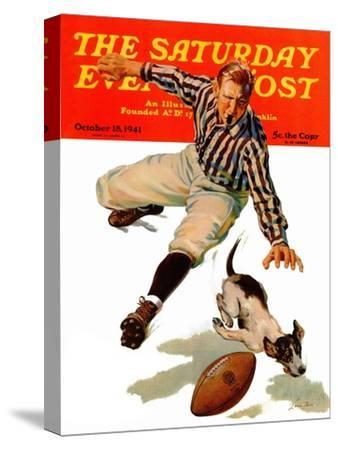 """""""Dog on the Field,"""" Saturday Evening Post Cover, October 18, 1941"""