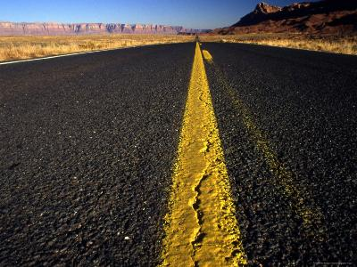 Lonley Stretch of Desert Road, Utah-Kate Thompson-Photographic Print