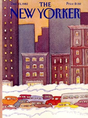 The New Yorker Cover - December 13, 1982 by Lonni Sue Johnson