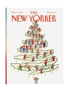The New Yorker Cover - December 16, 1985 by Lonni Sue Johnson