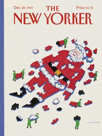 The New Yorker Cover - December 28, 1987