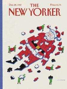 The New Yorker Cover - December 28, 1987 by Lonni Sue Johnson