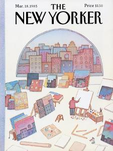 The New Yorker Cover - March 18, 1985 by Lonni Sue Johnson