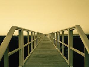 Bridge at Long Island Beach, NY by Lonnie Duka
