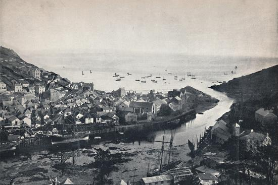 'Looe - View from the Hills, Showing the Estuary', 1895-Unknown-Photographic Print