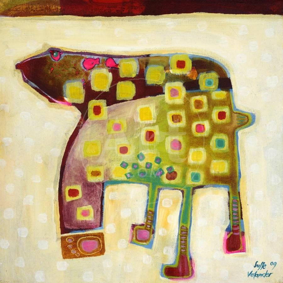 Look at My Footprints Art Print by Susse Volander | Art.com