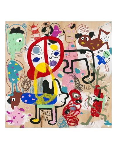 Look (everything is here)-Joi Murugavell-Art Print