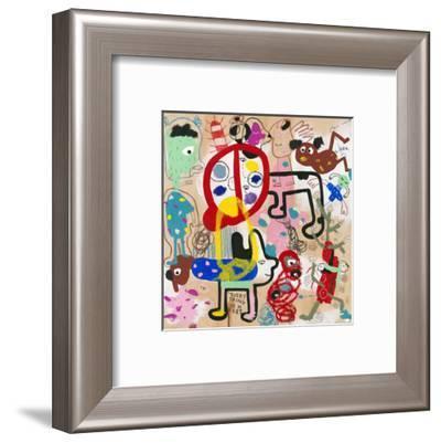 Look (everything is here)-Joi Murugavell-Framed Art Print