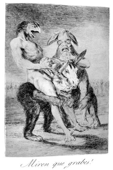 Look How Solemn They Are!, 1799-Francisco de Goya-Giclee Print