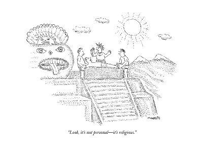 """Look, it's not personal?it's religious."" - New Yorker Cartoon--Premium Giclee Print"