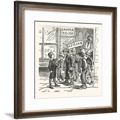 Look Loike Wan of Thim Dirty Republicans an If Yer Don't Shout Me Fader and Hancock--Framed Giclee Print