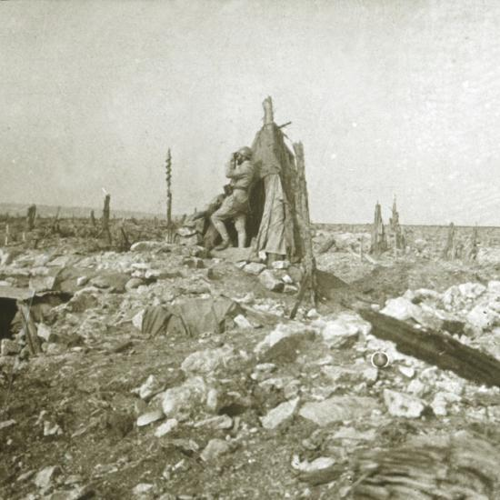 Look-out post, Fort Vaux, northern France, c1914-c1918-Unknown-Photographic Print
