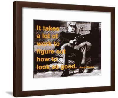 Look So Good-Billy Name-Framed Art Print