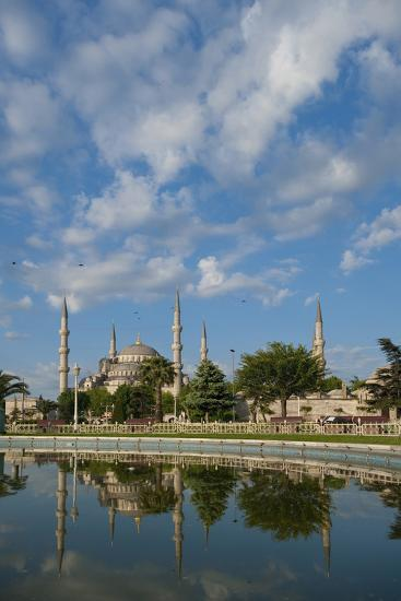 Looking across Pond to Sultanahmet or Blue Mosque-Design Pics Inc-Photographic Print