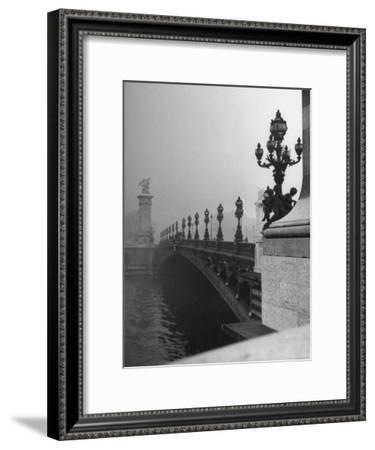 Looking Across the Pont Alexandre III Bridge Toward the Grand Palace-Ed Clark-Framed Premium Photographic Print