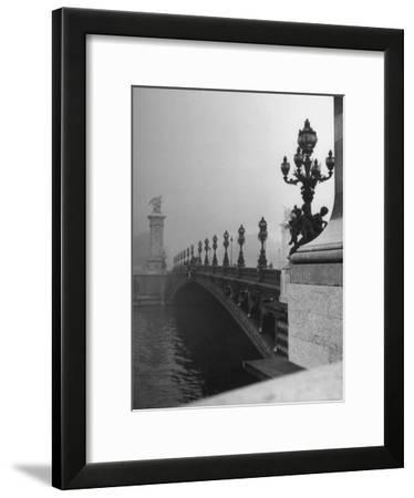 Looking Across the Pont Alexandre III Bridge Toward the Grand Palace-Ed Clark-Framed Photographic Print