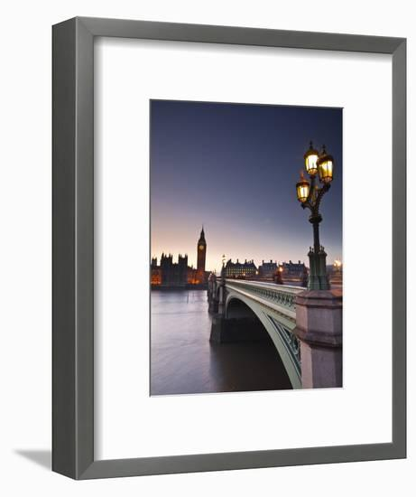 Looking across the River Thames Towards the Houses of Parliament and Westminster Bridge, London, En-Julian Elliott-Framed Photographic Print