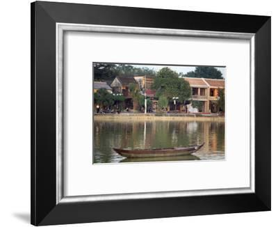 Looking across the Thu Bon River to the ancient town of Hoi An, Vietnam-Paul Dymond-Framed Photographic Print