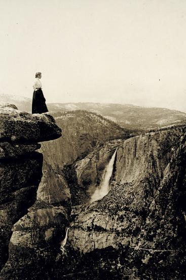 Looking across the Valley to Yosemite Falls, USA, 1917-Underwood & Underwood-Photographic Print