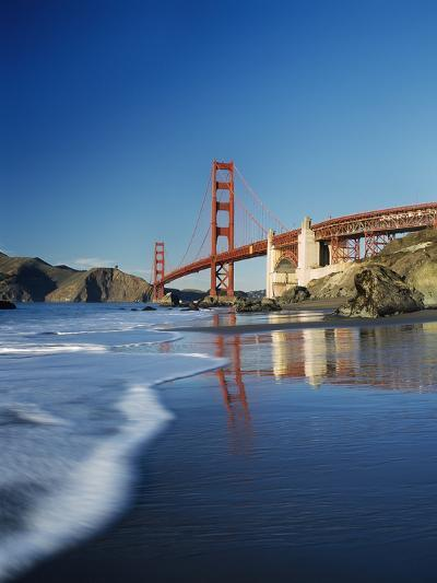 Looking Along Baker Beach Towards the Golden Gate Bridge, Blurred Motion-Design Pics Inc-Photographic Print