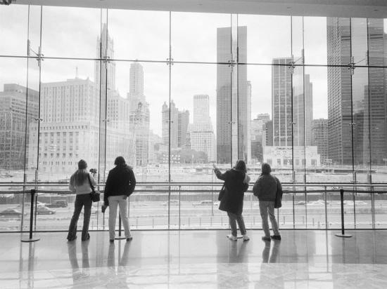 Looking at Ground Zero, Lower Manhattan, New York, USA-Walter Bibikow-Photographic Print