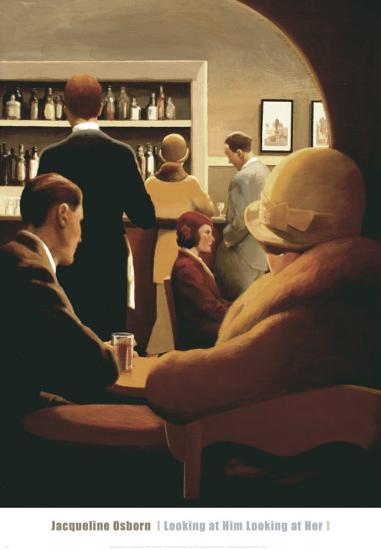 Looking at Him Looking at Her-Jacqueline Osborn-Art Print