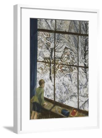Looking at the Snow-Christopher Richard Wynne Nevinson-Framed Giclee Print
