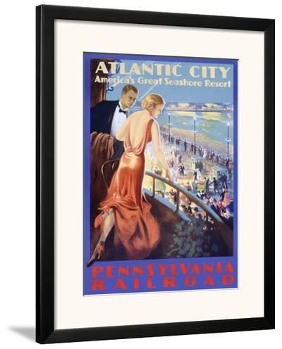 Looking Deco--Framed Giclee Print